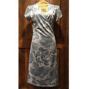 Athleta Floral Print Wrap Dress
